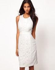 Pencil Dress With Lace Overlay $73.88 #asos