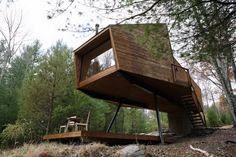 Stylish Homes - Modern treehouse with loft.