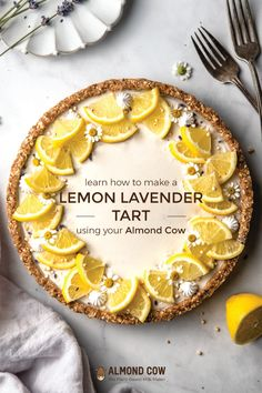No-bake Lemon Lavender Tart Pumpkin Tarts, Apple Tarts, Lemon Tarts, Milk Recipes, Tart Recipes, Fun Desserts, Dessert Recipes, Delicious Desserts, Vegan White Chocolate