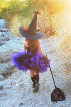 A beautiful little Halloween Witch!