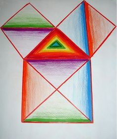 Waldorf ~ 5th grade ~ Form Drawing ~ Freehand Geometry ~ Squares & Triangles ~ main lesson book