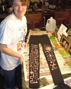 bleach painting on cloth - Google Search