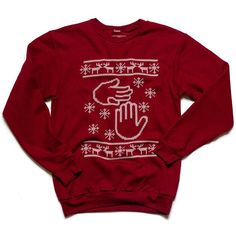Not So Ugly Christmas Sweater from @highfivethreads. #mittenlove