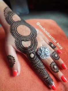 Henna Tattoo Designs Simple, Finger Henna Designs, Indian Mehndi Designs, Henna Art Designs, Mehndi Design Pictures, Modern Mehndi Designs, Mehndi Designs For Beginners, Beautiful Henna Designs, Mehndi Designs For Fingers