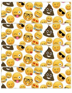 Wrapper for beverages at an Emoji birthday party, baby shower, or bridal shower. 10th Birthday Parties, Frozen Birthday Party, 8th Birthday, Birthday Ideas, Emoji Cupcake Toppers, Emoji Party Supplies, Imprimibles Paw Patrol, Free Emoji, Water Party