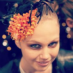 """Beautiful flower hair accessories at Camilla backstage #mbfwa"""