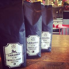 On the third day of Christmas my true love gave to me: 3 bags of freshly roasted coffee,2 gingerbread latte and a pizza from Lamanna's bakery! :)