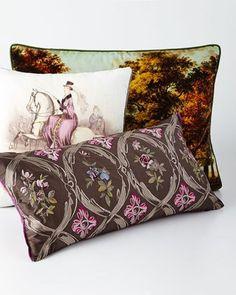-6Z6E Designers Guild  Queen Victoria Amethyst Pillow Carrack Amethyst Pillow Windsor Velvet Moss Pillow