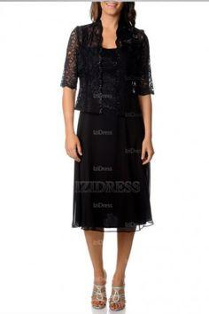 A-Line/Princess Straps Tea-length Chiffon Mother of the Bride Dress - IZIDRESSBUY.com at IZIDRESSBUY.com
