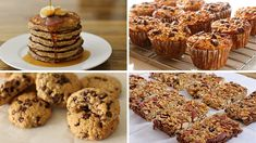 4 Healthy Oatmeal Recipes If you looking for nice, easy and healthy recipe with oatmeal, this is the place for you. 4 healthy and delicious oatmeal recipes, good for lunch or any other time of … source Healthy Oatmeal Recipes, Healthy Granola Bars, Snack Recipes, Healthy Snacks, Banana Oatmeal Pancakes, Oatmeal Chocolate Chip Cookies, Recipe For 4, Recipe Using, Peanut Butter Oat Bars