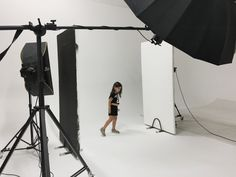 Backstage baby shoot presso limbo cyclorama presso photo studio Lumina Sense art lab