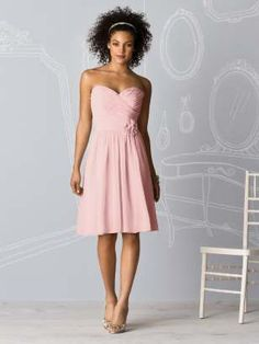 light pink bridesmaids dress. This is the shade of pink I want!