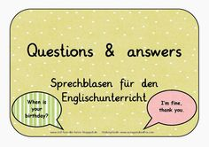 Sprechblasen - questions and answers