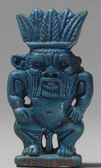 Ancient Egyptian faience figure of Bes (Metropolitan Museum of Art)