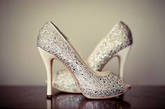 Silver Sparkly Wedding Shoes ♥ Glitter Bridal Shoes #796552 - Weddbook