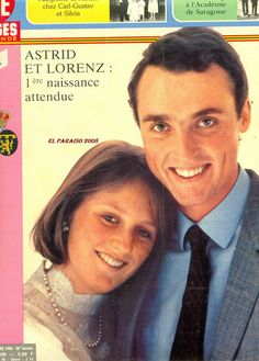 Astrid en Lorenz expecting their first child. The just married prince Amadeo (2014)