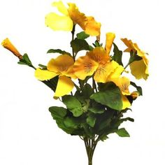 This Artificial Pansy Bush with stunning large yellow flowers measures tall tall inclusive of stem). Silk Bedding, Artificial Plants, Pansies, Yellow Flowers, Outdoor, Beautiful, Outdoors, Fake Plants, Faux Plants