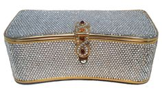Judith Leiber Vintage Box Clear Swarovski Crystal Evening Bag Clutch