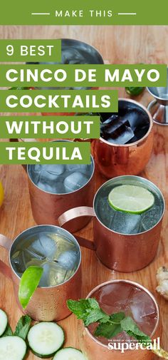 Even if you have a natural aversion to tequila, mezcal drinks and other libations will ensure you don't miss out on the Cinco De Mayo festivities. Mezcal Cocktails, Mexican Holiday, Party Entertainment, Tequila, Cocktail Recipes, Entertaining, Drinks, Natural, Cinco De Mayo
