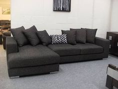 Natalia Corner Lounge Suite with Chaise and Pull Out Sofa Bed ...
