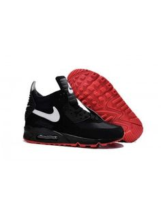 innovative design c0f94 ad8e6 Nike Air Max 90 Sneakerboot Herr Svart Röd SE319454