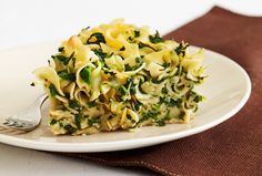 "Spinach Noodle Kugel - ""I've pinned it to win it from @joyofkosher"""