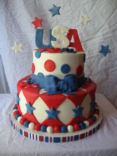 July 4th Cake by gourmettiger on CakeCentral.com