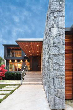Measured Architecture is a full-service Vancouver-based studio practice focused on modern design, interiors and landscapes. Beautiful Architecture, Interior Architecture, Villa, House Entrance, Architectural Features, Facade Design, Build Your Dream Home, Modern Exterior, Residential Architecture