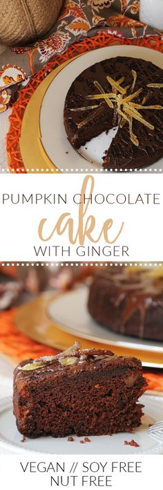 This Pumpkin Chocolate Cake will carry you all the way through the holiday season! It's a sure hit with your guests for every occasion, and is SO easy! via @frieddandelions