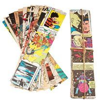 These DIY paper chains are made from vintage comic strips and make great home or party decorations #ellieellie