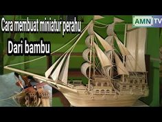 Cara membuat miniatur perahu dari bambu terbesar yg saya buat Hobbies And Crafts, Diorama, Paper Art, Bamboo, Youtube, Handmade, Instagram, Small Bench, Woodworking