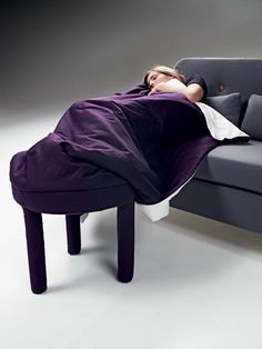 The Collerette convertible pouf, designed by Les M Design Studio for Casamania, is the perfect aid for curling up on the sofa for a marathon TV watching session. Available in a single or double version, the footrest has a rolled-up blanket attached to cover your feet when you're ready to get cozy.