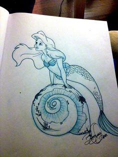 Little mermaid sketch