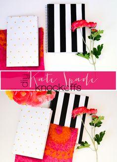 DIY Kate Spade inspired Notebooks