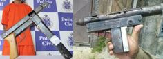 Common illicitly homemade submachine guns in Brazil - Submachine Gun, Guns And Ammo, Guerrilla, Firearms, South America, Hand Guns, Brazil, Weapons, Homemade