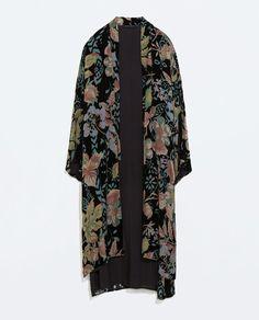 Image 8 of LONG VELVET KIMONO from Zara