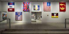 """""""William N. Copley"""". Installation view. FLAGS ROOM. Photo Roberto Marossi. Courtesy Fondazione Prada http://www.fondazioneprada.org/project/william-n-copley/?lang=en"""