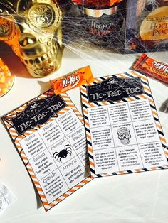 FREE: Halloween writing themed tic-tac-toe boards for grades 5-12!