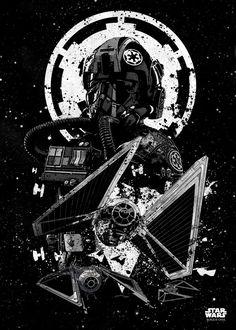 """Want a metal print copy?: Visit Store Description: Official Star Wars Pilots TIE Striker artwork by artist """"Star Wars"""". Poster S, Star Wars Poster, Poster Prints, Star Wars Fan Art, Star Trek, Cuadros Star Wars, Images Star Wars, Star Wars Painting, Star Wars Facts"""