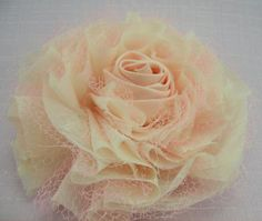 Flower with tulle.#1