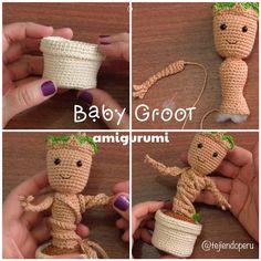 Baby Groot amigurumi paso a paso
