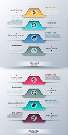 Buy Modern Infographic Options Template Colors) by Andrew_Kras on GraphicRiver. Modern infographic option banner with paper rectangles and textures on grey background for 4 options. Infographic Template Powerpoint, Powerpoint Design Templates, Webdesign Inspiration, Graphic Design Inspiration, App Design, Layout Design, Timeline Design, Presentation Layout, Information Design