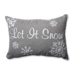 Pillow Perfect Let It Snow Rectangular Throw Pillow
