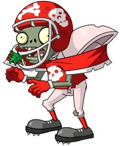 by on DeviantArt Plants Vs Zombies Drawing, Plants Vs Zombies 2, Zombie Birthday Parties, Zombie Party, 5th Birthday, Happy Birthday, Plants Vs Zombies Personajes, Zombie Football Player, Zombies Vs