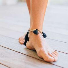 Bali Anklet Bracelet - We're bringing Ankle Bracelets back! These Bali Anklet Bracelets are adjustable for an easy fit and feature multiple tassels. They're a perfect accessory to pair with a bathing suit or summer dress!