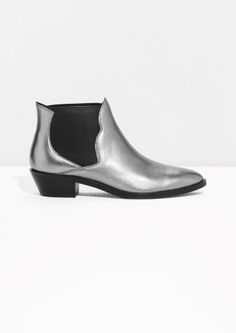 & Other Stories   Metallic Western Low Shaft Boots