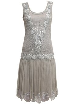 Frock and Frill Cocktail dress Party dress grey £135.00 AT vintagedancer.com
