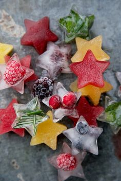 These festive and fun ice cubes are perfect for mocktails or any unsweetened iced tea. Freeze blueberries, raspberries, cranberries, and blackberries to add more fiber and flavor to your drink.