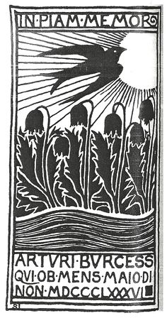 Selwyn Image, woodcut from the Hobby Horse, 1896.