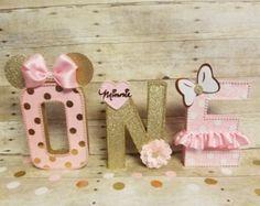 Caliente negro y rosa Minnie Mouse Piñata por HeidiPartyCreations